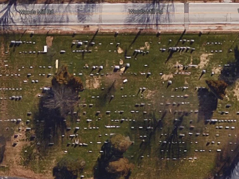 Aerial photo of Manchester UMC cemetery