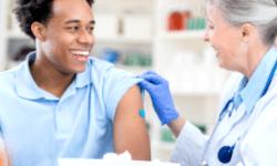Flu shot with Medical Professional
