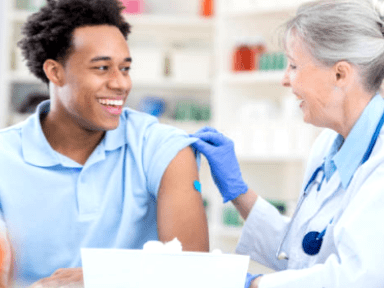 Flu shot with Medical Professional