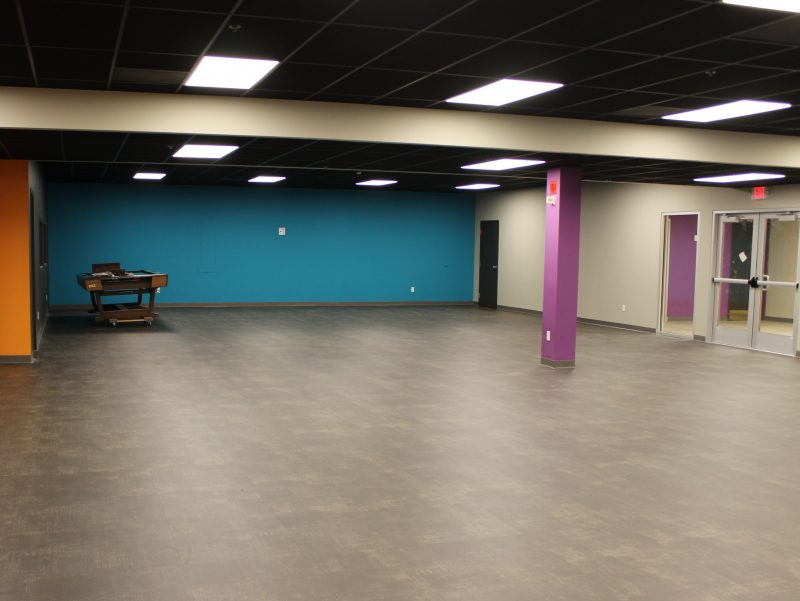 photo of Manchester UMC youth center that is nearing completion