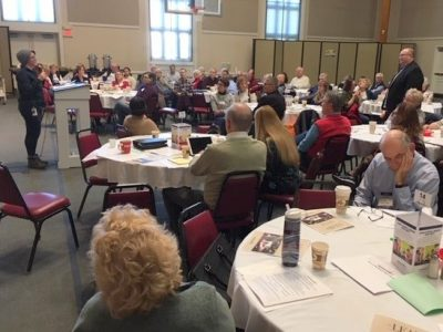Photo of ministry leaders gathered for training.