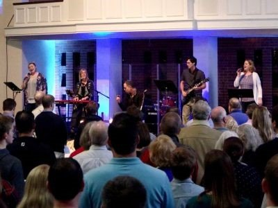 Our Modern Worship team leading a worship service.