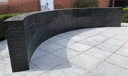 Photo of John Wesley Ward Meditation and Memorial Wall.