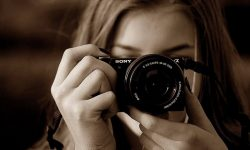 Photographer taking a portrait