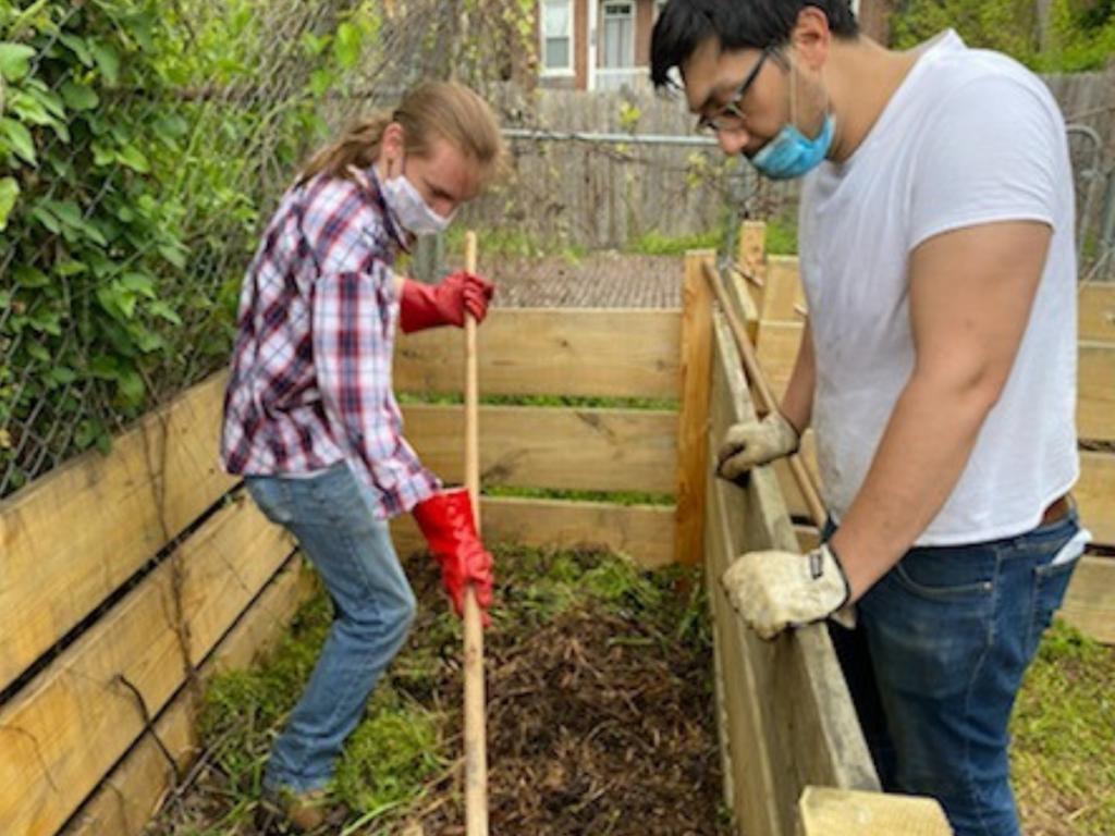 Preparing the gardening bed 43