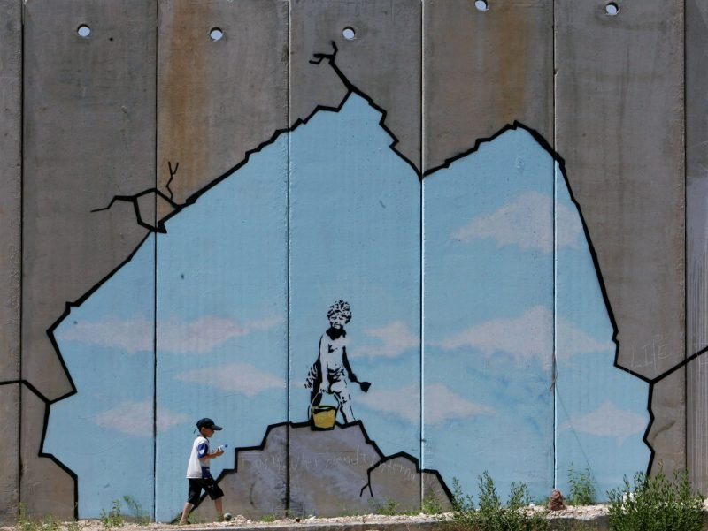 Painting by Bansky