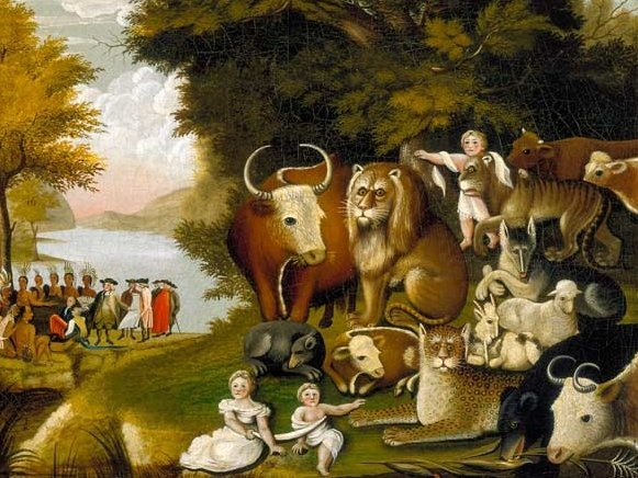 Peaceable Kingdom painting by Edward Hicks