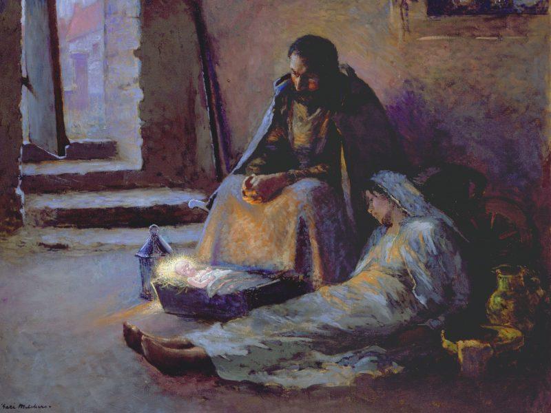 The Nativity; artwork by Gari Melchens.