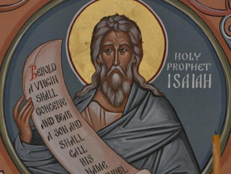 Art depicting Isaiah the prophet.