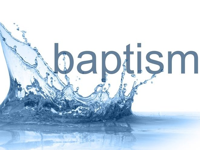 Image of water splashing, representing baptism.