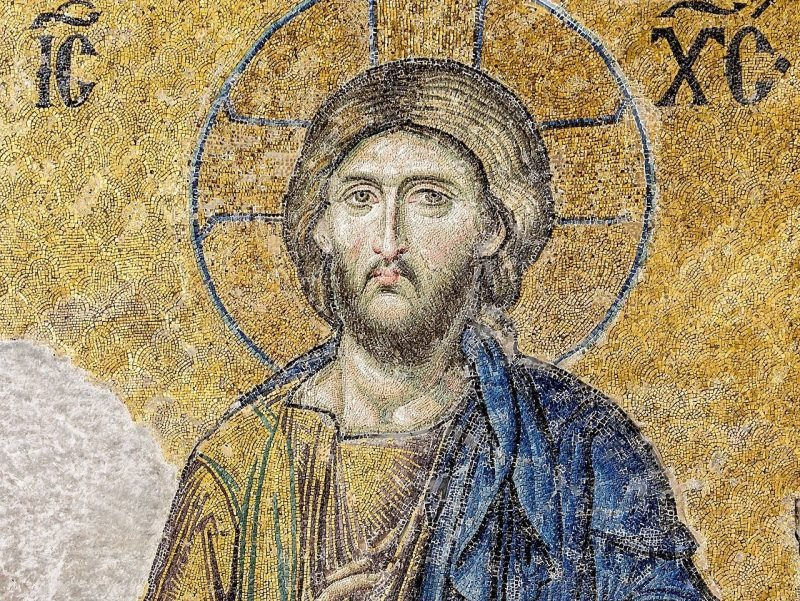 Byzantine mosaic of Christ.