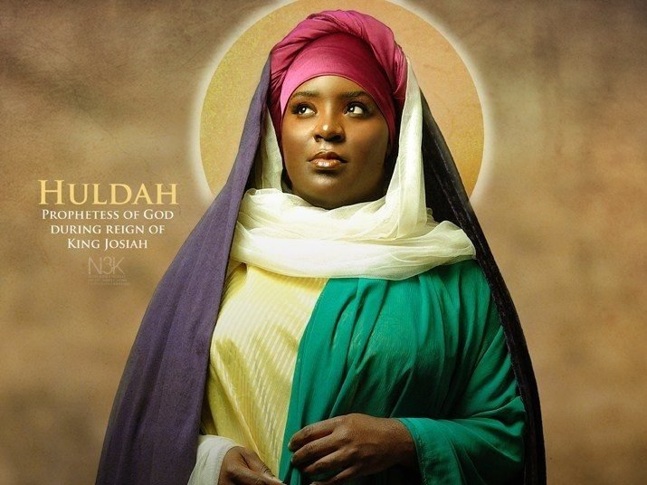 Painting of what Huldah may have looked like.